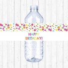 Art Birthday Party Rainbow Painting Art Party Printable Water Bottle Labels #A280