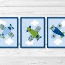 Little Aviator Airplane Printable Nursery Wall Art #A112