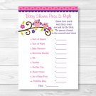 "Pink & Purple Owl Printable Baby Shower ""Price Is Right!"" Game Cards #A133"