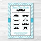 "Little Man Mustache Chevron Printable ""Name That Mustache"" Baby Shower Game #A376"