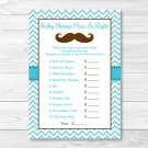 "Little Man Mustache Chevron Printable Baby Shower ""Price Is Right!"" Game Cards #A376"