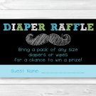 Chalkboard Mustache Oh Boy Printable Baby Shower Diaper Raffle Tickets #A397