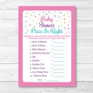 "Pink Baby Sprinkle Printable Baby Shower ""Price Is Right!"" Game Cards #A357"