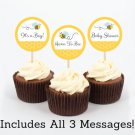 Bumble Bee Cupcake Toppers Party Favor Tags Printable #A134