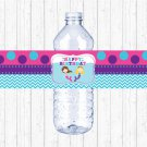 Mermaid Birthday Pool Party Printable Water Bottle Labels #A363