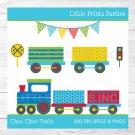 Choo Choo Train Colorful Train Clipart #A238