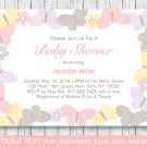 Mod Pastel Butterflies Printable Baby Shower Invitation Editable PDF #A405