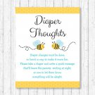 Bumble Bee Diaper Thoughts Late Night Diaper Baby Shower Game #A134
