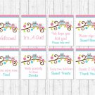 Pink Woodland Owl Baby Shower Table Signs - 8 Printable Signs #A162