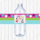 Girls Pool Party Printable Water Bottle Labels #A349
