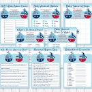 Sailboat Baby Shower Games Pack - 8 Printable Games #A407