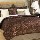 24PC JACQUARD RIDGEFIELD COMFORTER BED IN A BAG SZ QN