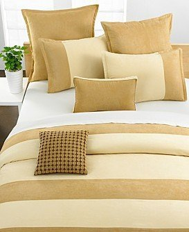 STYLE & CO BLOCK SUEDE DUVET /COMFORTER COVER SIZE KING