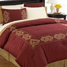 8PC ATRIUM EMBROIDERED COMFORTER SET/BIAB SZ QUEEN