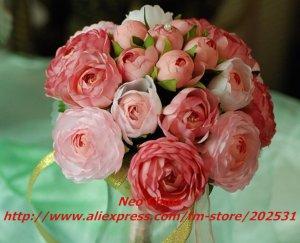High simulation silk flower,custom wedding bouquets,custom bride hold flowers,20x25cm,free shipping