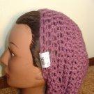 Baby Purple Crochet Slouchy Beanie