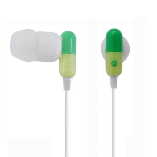 3.2mm Drug Capsule Style Stereo In-ear & Ear bud Earphone
