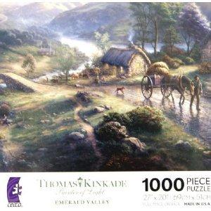 THOMAS KINKADE Painter of Light EMERALD VALLEY 1000 Piece Jigsaw Puzzle