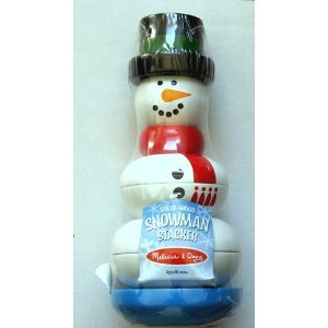 "SOLID-WOOD SNOWMAN STACKER 8"" Height"