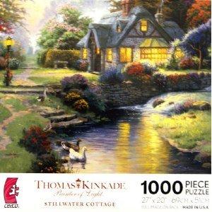 THOMAS KINKADE Painter of Light STILLWATER COTTAGE 1000 Piece Jigsaw Puzzle