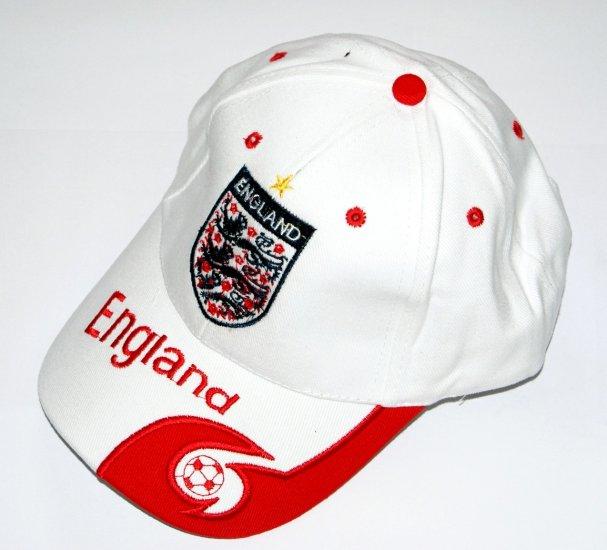 World Cup Soccer Team England ADULT Home SOCCER CAP / SOCCER HAT