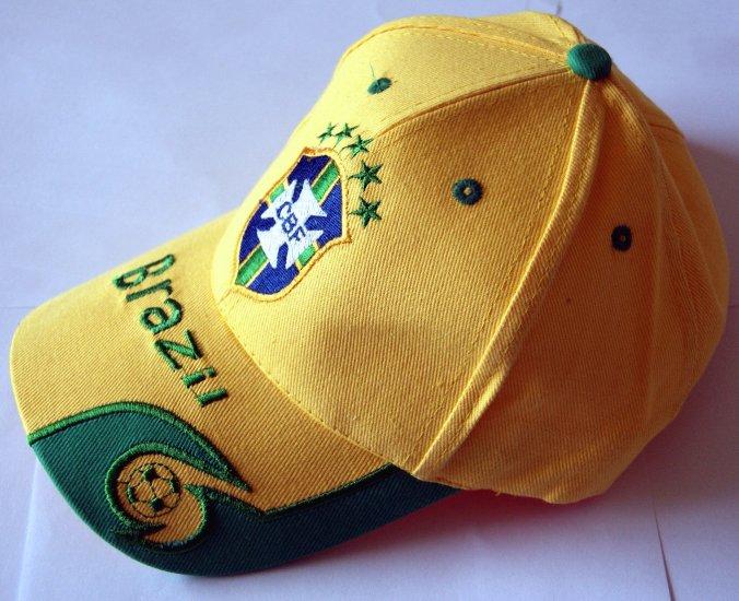 World Cup Soccer Team BRAZIL (BRASIL) ADULT Home SOCCER CAP / SOCCER HAT