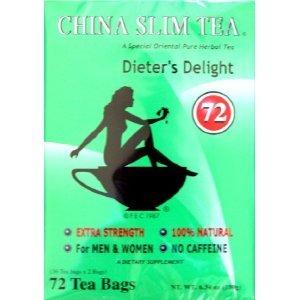 China Slim Tea Dieter's Delight 72 Tea bags (NET WT 6.34 OZ (180 g)