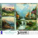 Thomas Kinkade 3 in 1 Multi-Pack in the Valley, Beginning of a Perfect Day, The Mountain Chapel