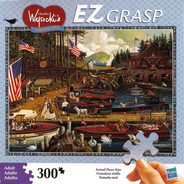 Charles Wysocki Americana Jigsaw Puzzle Lost in the Woodies 300 Piece