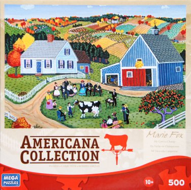 AMERICANA COLLECTION My Cow's a Champ by Marie Fox 500 Piece Jigsaw Puzzle