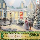"THOMAS KINKADE Christmas Puzzle ""Holiday Blessings"" 1000 Piece Jigsaw Puzzle MADE IN USA PUZZLE"