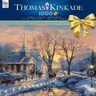 """THOMAS KINKADE Christmas Puzzle """"Holiday Evening Sleigh Ride"""" 1000 Piece"""