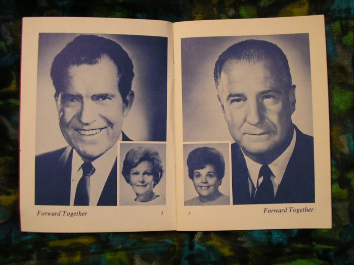 1969 Official Nixon & Agnew Presidential Inauguration Guide Book