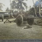 Keystone stereoview Mission Home Guam primitive cart