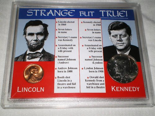 STRANGE BUT TRUE  COLLECTION PRESIDENTS COINCIDENCES