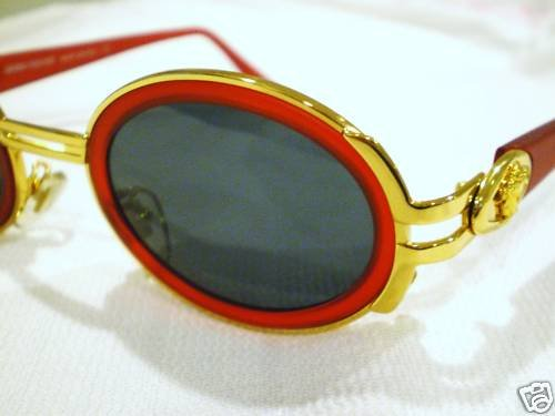 Vintage GIANNI VERSACE SUNGLASSES GOLD RED MOD.S02