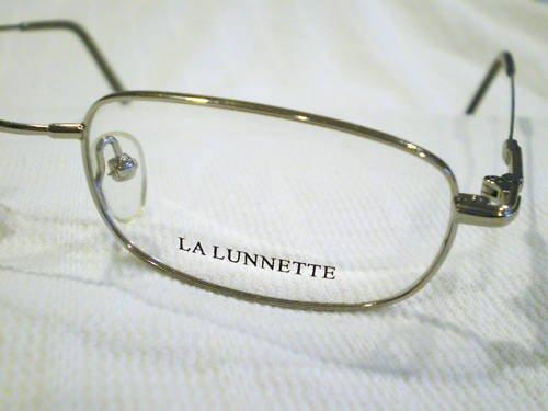 NEW LA LUNNETTE EYEGLASSES SILVER 50-21-145