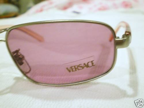 Vintage GIANNI VERSACE SUNGLASSES PEWTER ROSE MOD.S91