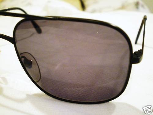 VINTAGE GIRARD SUNGLASSES AVIATOR BLACK MADE IN FRANCE