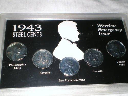 1943 WAR STEEL CENTS COLLECTION COINS +AWSOME BONUS