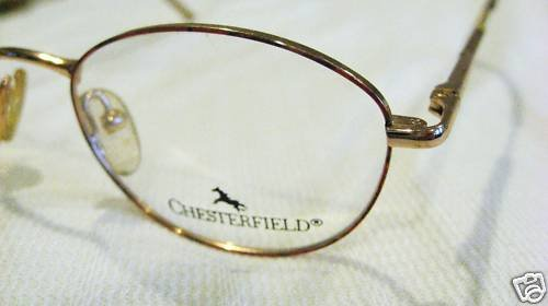 VINTAGE CHESTERFIELD  EYEGLASSES  SPRING HINGES 45-18