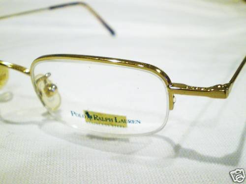 NEW POLO 388 RALPH LAUREN EYEGLASSES GOLD MADE IN ITALY
