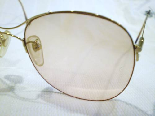 VINTAGE TURA SUNGLASSES GOLD MOD.412 55-18 VERY LIGHT