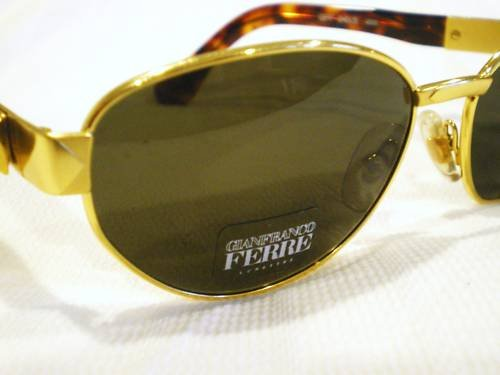Vintage GIANFRANCO FERRE SUNGLASSES GOLD TORTOISE