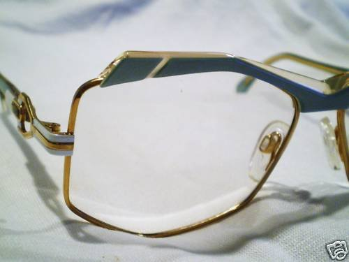 Vintage CAZAL EYEGLASSES PEARL GREEN GOLD  W.GERMAN