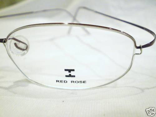 NEW RED ROSE RIMLESS TITANIUM EYEGLASSES 50-17-140