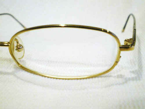 VINTAGE HUGO BOSS  EYEGLASSES GOLD 53-19-140