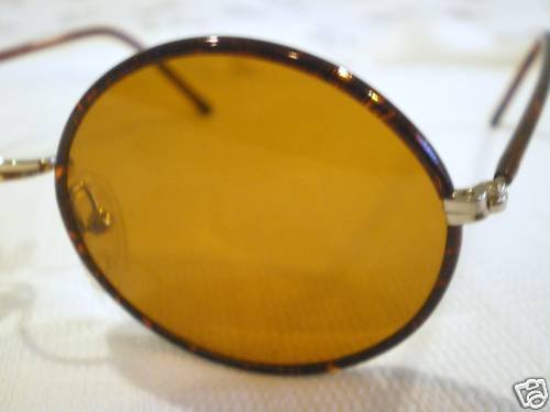 VINTAGE YOUNG PEOPLES ROUND SUNGLASSES TORTOISE GOLD