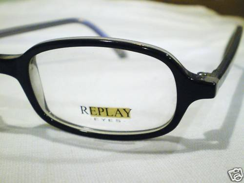 NEW REPLAY EYEGLASSES BLACK CLEAR 47-18-140