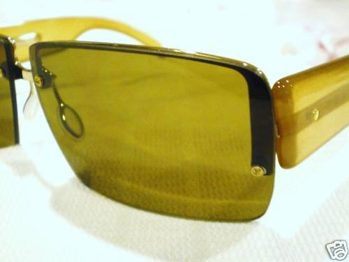 NEW  PRADA SUNGLASSES BROWN GOLD MOD.SPR58B